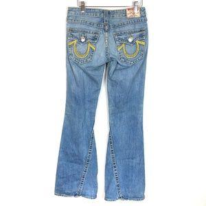 True Religion Rainbow Joey Distressed Flare Jeans
